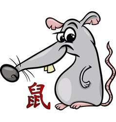 Rat chinese zodiac horoscope sign vector