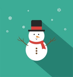 Snowman Flat Design vector image vector image