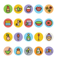 Spa colored icons 2 vector