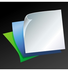 Template with paper pages vector