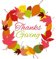 thanks giving wreath vector image