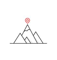 Thin line leadership like summit logo vector