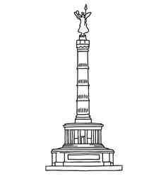 Victory Column Berlin vector image
