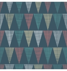 Vintage dark grey bunting flags triangles vector