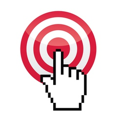 Target with cursor hand vecotr icon vector