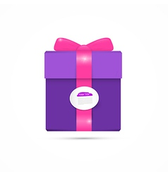 Purple pink present box gift box vector