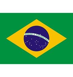 Flag of brazil vector