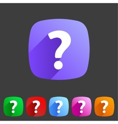Flat icon question vector image