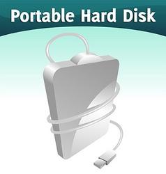 portable hard disc vector image