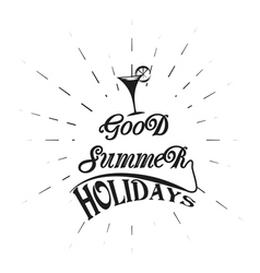 Logo vintage retro good summer holidays vector