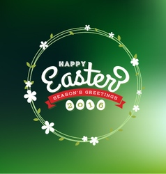 Happy easter 2016 lettering greeting card vector