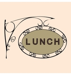 Lunch retro vintage street sign vector