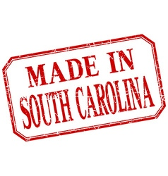 South carolina - made in red vintage isolated vector