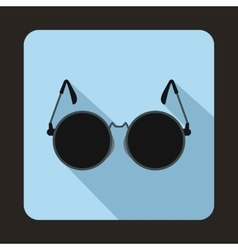 Glasses for blind icon flat style vector
