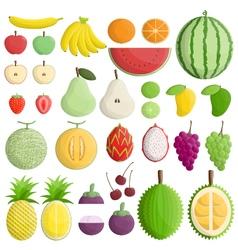 symmetry type color inside slice half fruit vector image