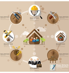 Business and real estate flat icon infographic vector