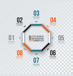 octagon infographic vector image