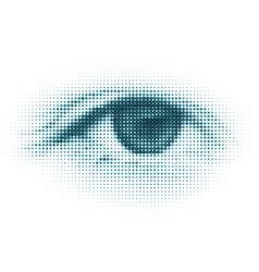 Abstract halftone digital eye vector