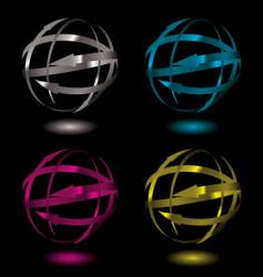 arrow metal ball vector image vector image