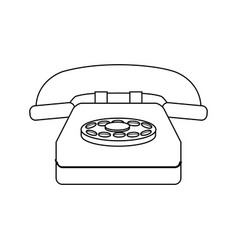 Classic telephone communication call device retro vector