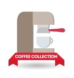 Coffee machine design vector