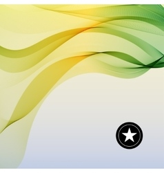 Colorful smooth twist light lines vector image
