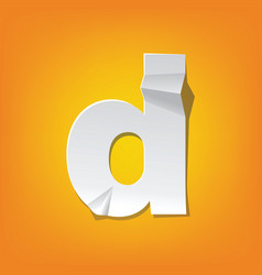 d lowercase letter fold english alphabet new vector image vector image