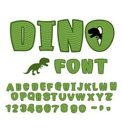 Dino font dinosaur ABC Texture animal of Jurassic vector image vector image