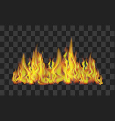 Fire line on transparent background vector