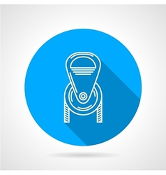 Flat round icon for pulley vector