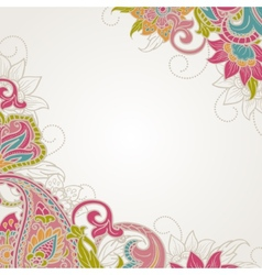 Frame with paisley vector image