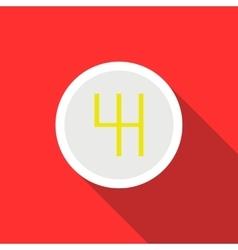 Gearbox schematics icon flat style vector