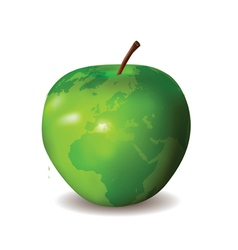 green apple world map vector image