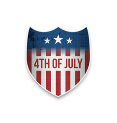 greeting banner for 4th of july vector image