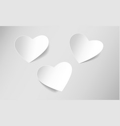 heart shaped sticky paper vector image vector image