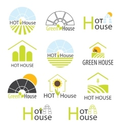 Hothouse hothouses collection vector