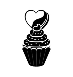 Isolated cupcake design vector image vector image