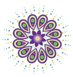 Mandala icon vector