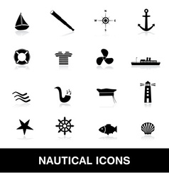 nautical icons eps10 vector image vector image