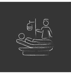 Nursing care drawn in chalk icon vector