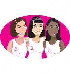 pink cancer symbol vector image vector image