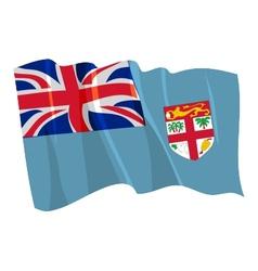 Political waving flag of fiji vector