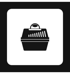 Portable cage for pets icon simple style vector image