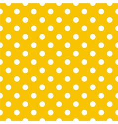 Seamless pattern white polka dot yellow background vector image vector image