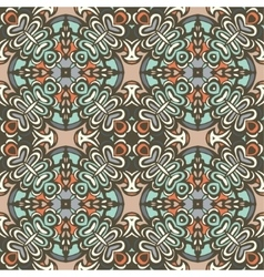 Seamless tiled pattern damask design vector