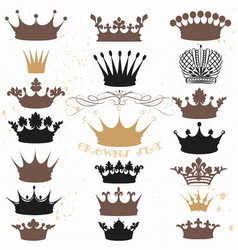 set of crowns for your heraldic design vector image vector image