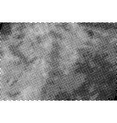 Vintage grunge halftone ink print horizontal vector image vector image