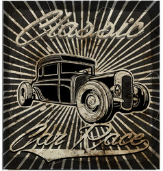 vintage old car retro style vector image