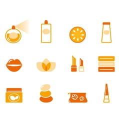 wellness spa and cosmetic icons vector image vector image