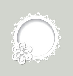 white round floral frame vector image